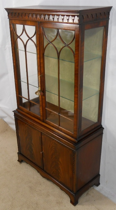 Sold Mahogany China Display Cabinet In Antique Georgian
